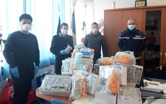 Donazioni comunità cinese a Sassari