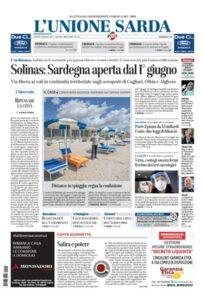 Prima Pagina Unione Sarda 14 maggio