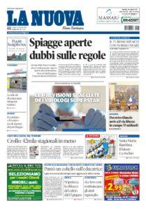 Prima pagina La Nuova Sardegna 14 maggio