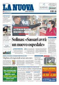 Prima pagina La Nuova Sardegna 17 maggio