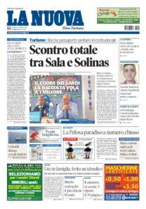 Prima Pagina La Nuova Sardegna 29 maggio
