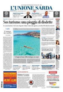 Prima Pagina Unione Sarda 20 maggio