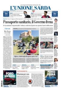 Prima Pagina Unione Sarda 26 maggio