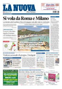 Prima Pagina La Nuova Sardegna 3 giugno