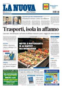 Prima Pagina La Nuova Sardegna 12 giugno