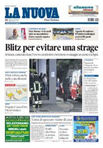 Prima pagina La Nuova Sardegna 26 giugno