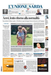 Prima Pagina Unione Sarda 9 giugno