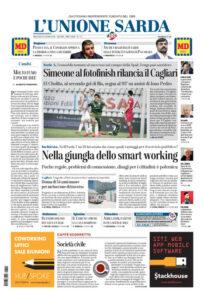 Prima pagina Unione Sarda 24 giugno