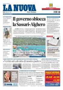 Prima pagina La Nuova Sardegna 10 luglio