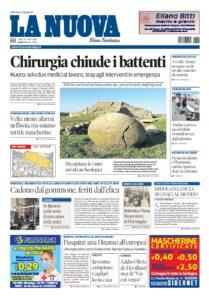 Prima pagina La Nuova Sardegna 27 luglio