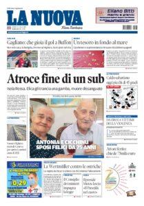Prima pagina La Nuova Sardegna 31 luglio