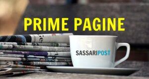 Prima pagine giornali Sardegna