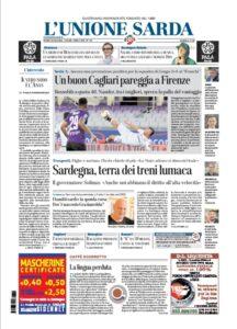 Prima pagina Unione Sarda 9 luglio