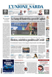 Prima pagina Unione Sarda 16 luglio