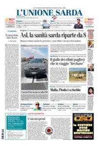 Prima pagina Unione Sarda 18 luglio