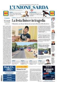 Prima pagina Unione Sarda 20 luglio