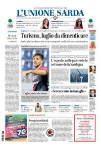 Prima pagina Unione Sarda 26 luglio