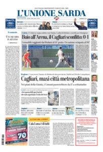 Prima pagina Unione Sarda 27 luglio