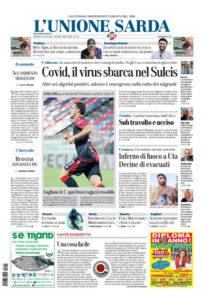 Prima pagina Unione Sarda 31 luglio