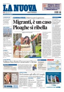 Prima pagina La Nuova Sardegna 1 agosto