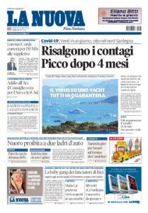 Prima pagina La Nuova Sardegna 12 agosto