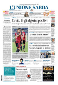 Prima pagina Unione Sarda 1 agosto