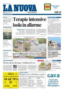 Prima pagina La Nuova Sardegna 11 settembre
