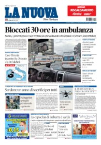 Prima pagina La Nuova Sardegna 23 novembre
