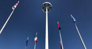 Bandiere nuove in via Budapest Sassari